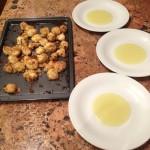 Preparazione CUBETTI DI CODA DI ROSPO SU CREMA DI PORRI E PATATE - Senza glutine,lattosio,uova