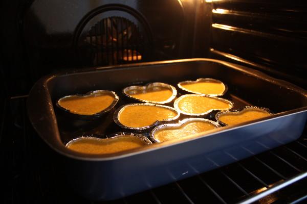 cottura mini flan di peperoni